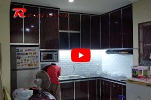 Kitchen Set Aluminium Motif Kayu