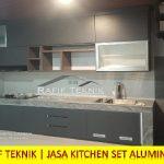 Lemari Dapur Kitchen Set Aluminium Warna Abu tua
