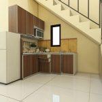 Kitchen Set Aluminium ACP Motif serat Kayu