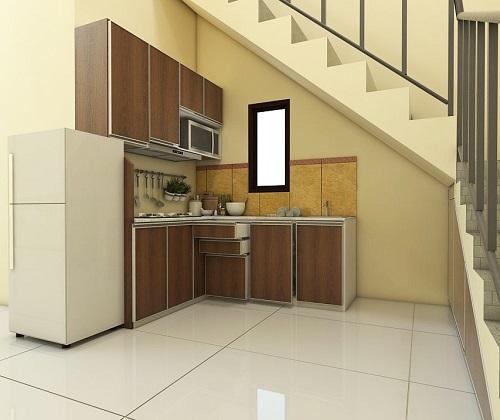 kitchen set aluminium acp motif kayu