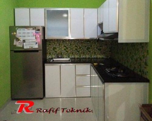 warna kitchen set aluminium warna putih