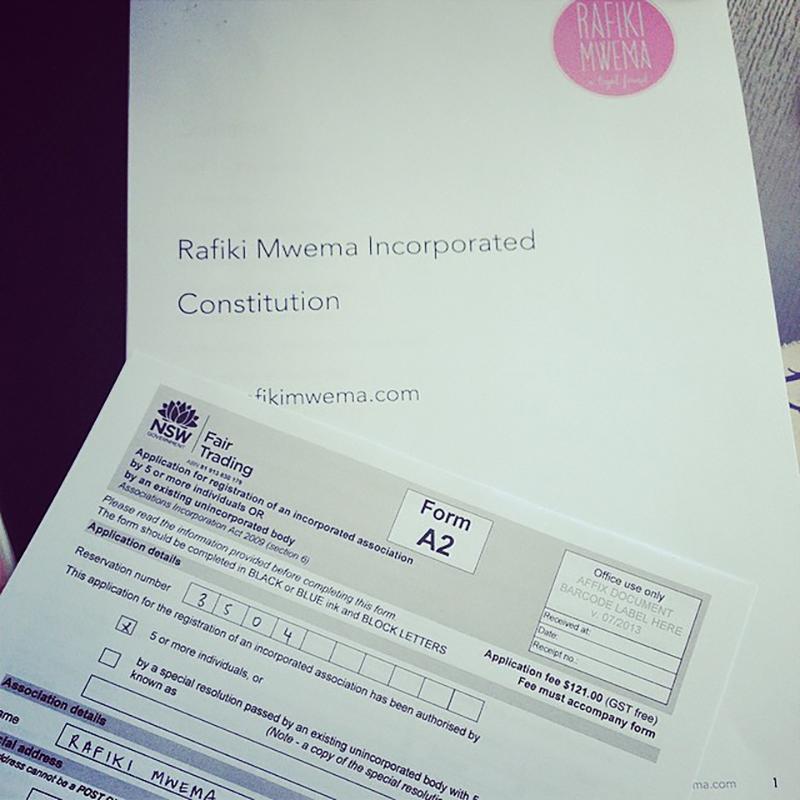 Update from the RMA {Rafiki Mwema Australia} Team!