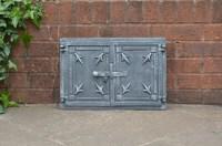 47.2 x 32 cm cast iron fire door clay / bread oven doors ...
