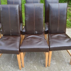 My Leather Chair Is Peeling Different Covers For Weddings Dinning Foe Chairs Second Hand Used X 17 | Ebay