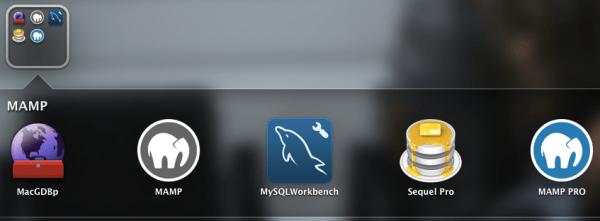대시보드에 MAMP와 함께 설치된 프로그램의 실행 아이콘이 등록된다.