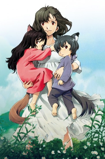 """""""Wolf Children"""" is the story of Hana, her daughter Yuki and her son Ame."""