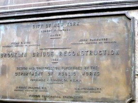1954 plaque marks a reconstruction period.