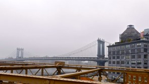 See the Manhattan Bridge looking to the north.
