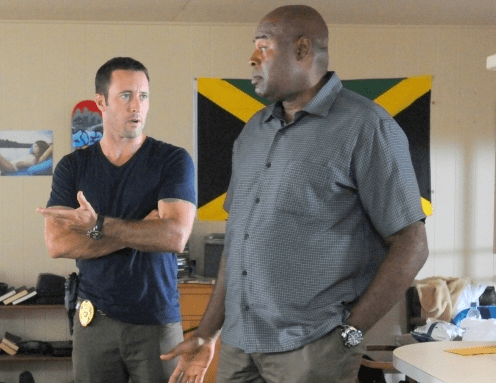 """Alex O'Loughin and Chi McBride in a scene from """"Hawaii Five-0."""""""