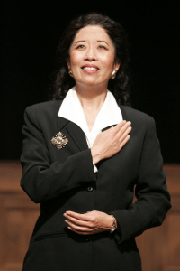 """Jeanne Sakata as Maria Callas in Terrence McNally's """"Master Class."""""""