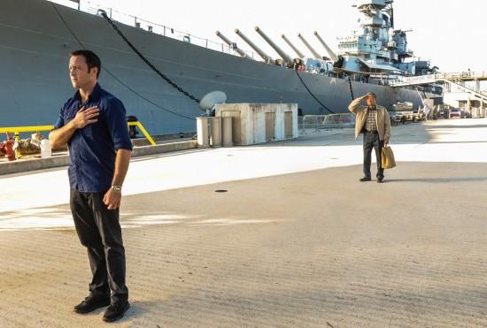 "Steve McGarrett (Alex O'Loughlin) and Daniel Toriyama (James Saito) share a common bond in a scene from this week's ""Hawaii Five-0"" episode. (CBS)"