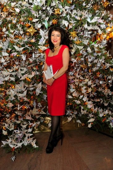 Origami artist Linda Mihara is among the volunteers who lend their talents to the Tree of Hope project every year.