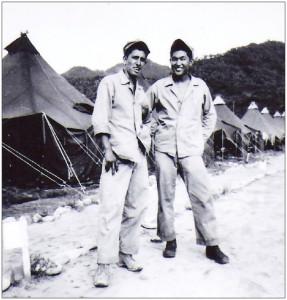 "Robert Wada and his childhood friend Robert ""Bat"" Madrid, who was killed in Korea on Sept. 20, 1951."