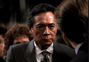 "James Shigeta as Joseph Takagi in ""Die Hard."""