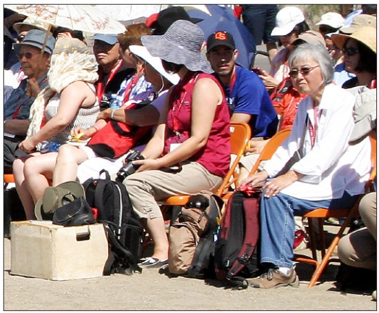 Imai Tomita attends a memorial service at the Tule Lake camp site. (Photo by Martha Nakagawa)