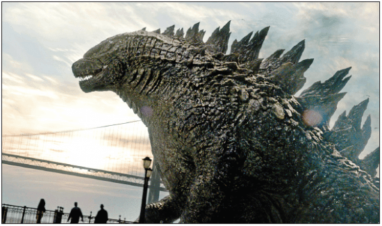 """A scene from the 2014 U.S. version of """"Godzilla."""" (Legendary/Warner Bros Pictures)"""