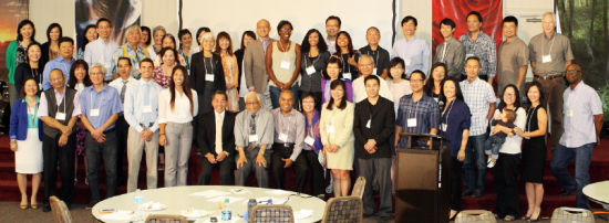 Participants in the fifth symposium organized by the Institute for the Study of Asian American Christianity (ISAAC).
