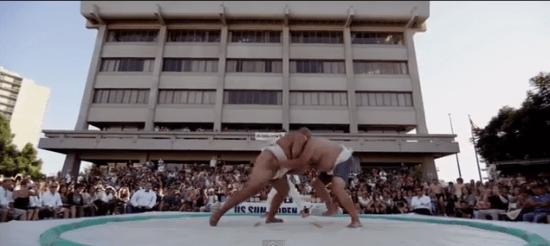 Last year's U.S. Sumo Open was held in Little Tokyo's JACCC Plaza. (USA Sumo)