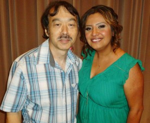 """At the pre-screening for """"Cristela,"""" Guy Aoki with Cristela Alonzo."""
