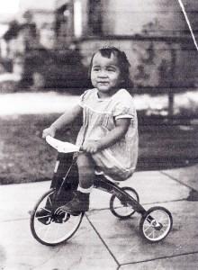 Cheri Sakai at age 2.