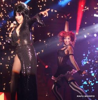 "Elvira, the Mistress of the Dark, returns to Knott's to headline her all-new show, ""Elvira's Big Top."""