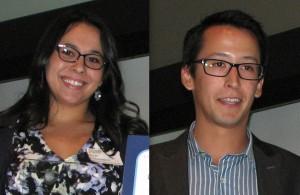 Nicki and Alec Thibodeaux, grand-niece and grand-nephew of posthumous honorees Dr. Mary Sakaguchi Oda and Dr. Sanbo Sakaguchi (San Fernando Valley JACL).