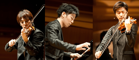 Tsukemen is composed of violinist Tairiku, pianist Suguru and violinist Kenta.
