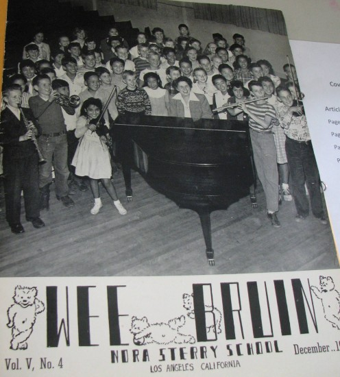 The cover of the December 1948 edition of Wee Bruin, a publication of Nora Sterry School.
