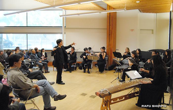 11月22日に小東京図書館で開かれた無料コンサート