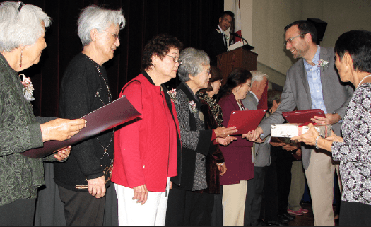 The Keiro honorees received gifts from VJCC and certificates from the State Senate and the City of Los Angeles.