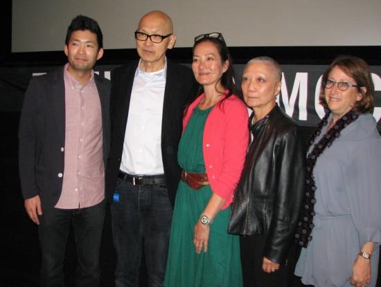 From left: Phil Yu, Wayne Wang, Rosalind Chao, Maysie Hoy, Heidi Levitt.