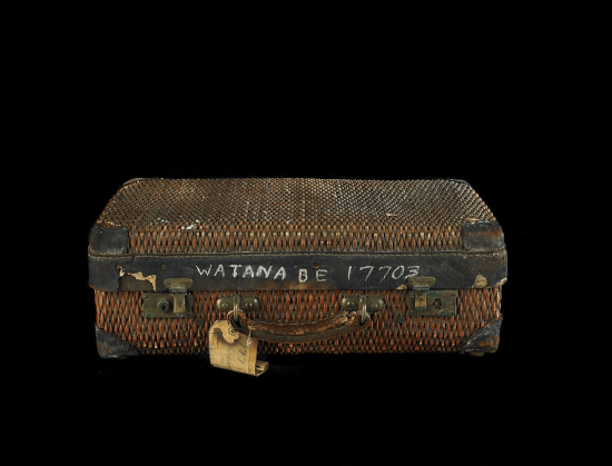 Suitcase used to travel to the Minidoka camp in Idaho.