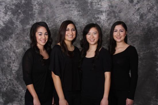 From left: Taylor Davis, Nina Myers, Kelli Sum, Karine Worley.