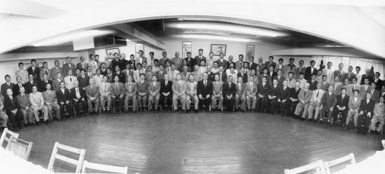 On July 28, 1955, 15 chapters gathered at San Kwo Low restaurant in Little Tokyo. 1,800 members opposed the Maloney Bill. (Photo courtesy of SCGF)