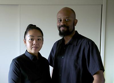 ストークス監督と、妻の香奈さん