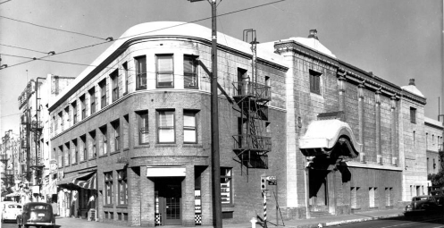 Nishi Hongwanji's original location at First and Central, now part of the Japanese American National Museum.