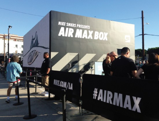 The Nike pop-up shop installed on Third Street in the Arts District.