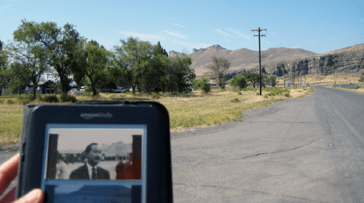 Castle Rock, visible in the distance, is Tule Lake's most prominent landmark.