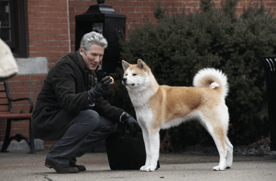"""Richard Gere and friend in a scene from """"Hachi: A Dog's Tale."""""""