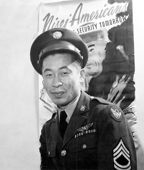 Between assignments in Europe and the Pacific, Ben Kuroki promoted the war effort in the U.S.