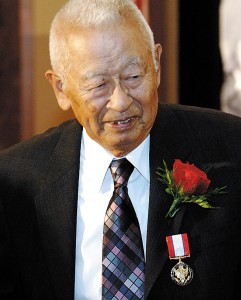 Ben Kuroki received the Distinguished Service Medal on Aug. 12, 2005 in Lincoln, Neb.
