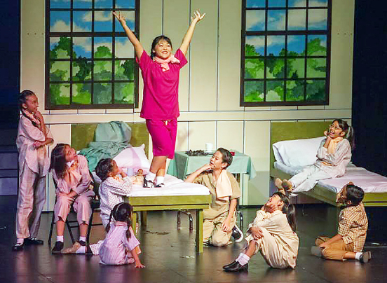 """An uplifting moment from """"Peace on Your Wings."""" The musical premiered on Oahu in November 2014."""