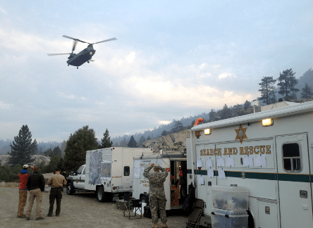 Helicopters and a drone were used during the search for Miyuki Harwood. (Fresno County Sheriff's Office)