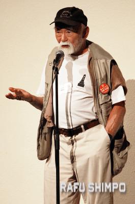 Mo Nishida of the Ad Hoc Committee to Save Keiro. (MARIO G. REYES/Rafu Shimpo)