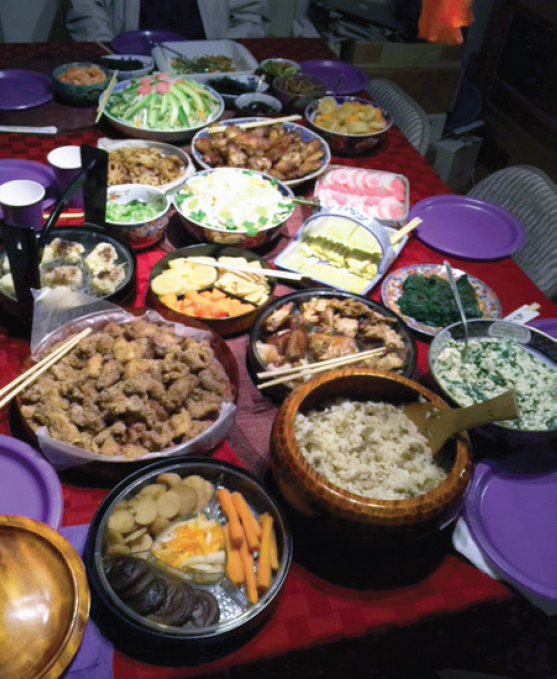 Celebrating family and a new year with osechi ryori.
