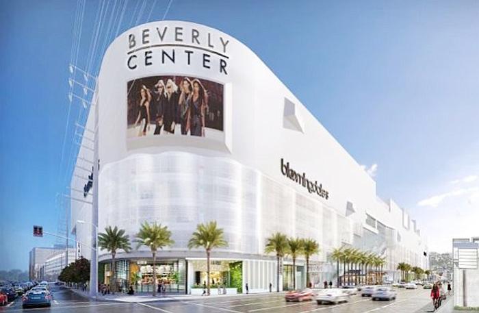 5億ドルを投じて大規模改修工事が行われるビバリーセンターの完成予想図(トーブマン・センターズ社提供)