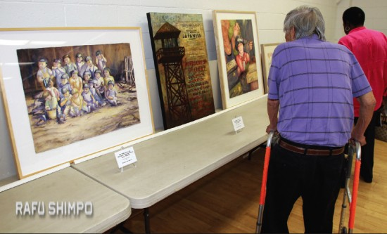 Mary Higuchi was among the artists whose camp-related works were displayed at the Day of Remembrance program.
