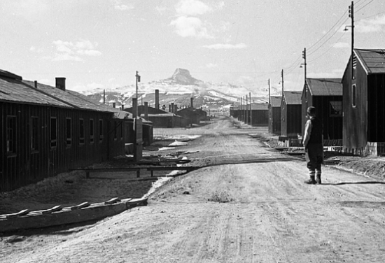 From 1942 to 1945, Heart Mountain was Wyoming's third-largest city. (Courtesy of the George and Frank C. Hirahara Collection, Washington State University Libraries MASC)