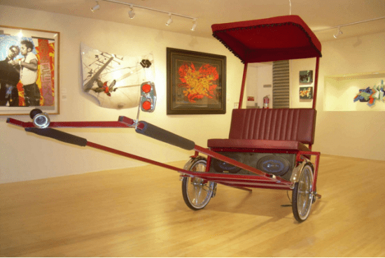 """""""Rice Rocket of the Fast and the Furious"""" by Clement Hanami is among the works featured in """"CrossLines."""""""