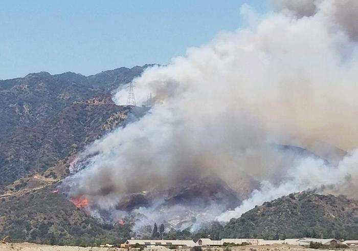 エンジェルス国立森林公園で発生した山火事